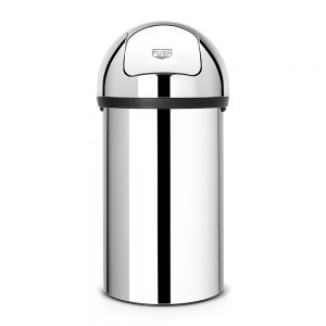 Brabantia Push Bin 60L Brilliant Steel
