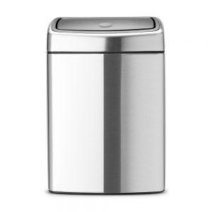 Brabantia Touch Bin Rektangulär 10L Brilliant Steel