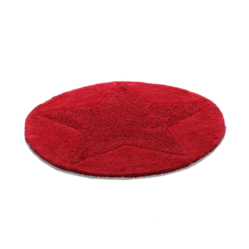 Badrumsmatta Etol Star Röd Rund