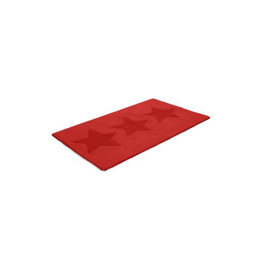 Badrumsmatta Etol Star Röd Rektangulär