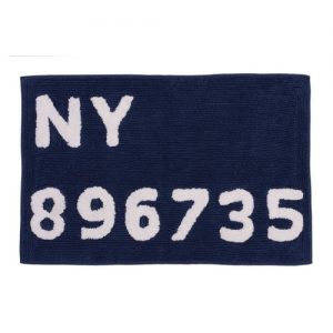badrumsmatta digits blå