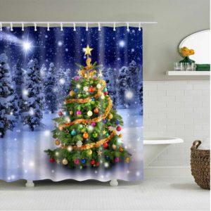 duschdraperi julgran