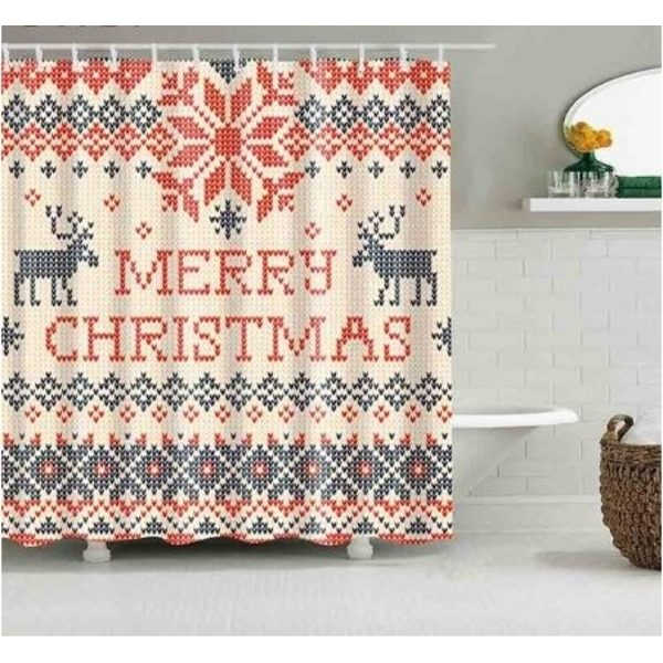 Duschdraperi Merry Christmas