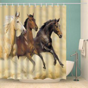 Duschdraperi Vildhästar