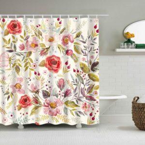 Duschdraperi Blomster